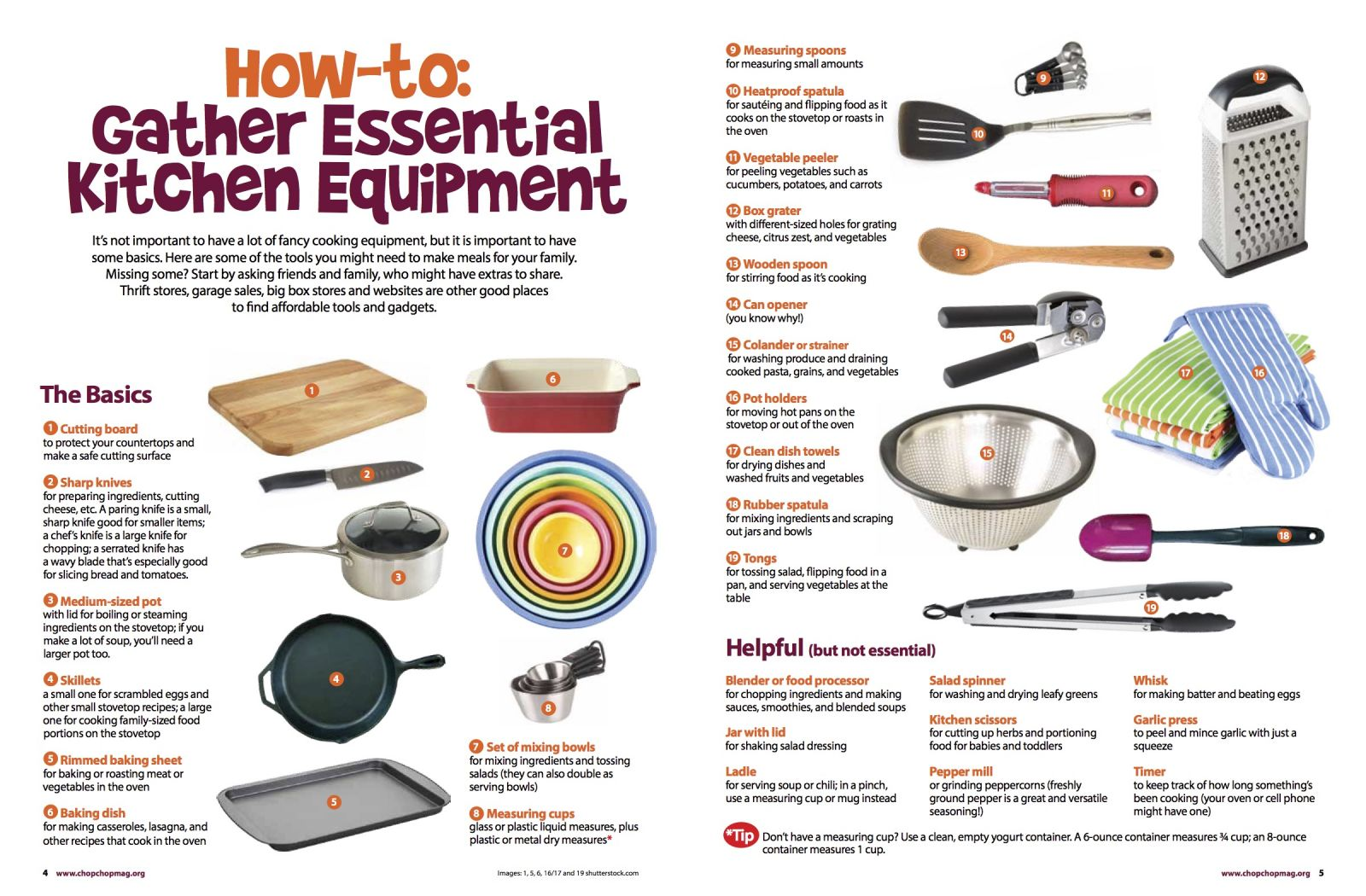 How-to: Gather Essential Kitchen Equipment | ChopChop