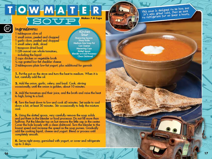 Cook with disney and chopchop this holiday season chopchop each book includes recipes families can make together like tow mater soup inspired by the movie cars sweet treats include snacks like peanut butter forumfinder Choice Image